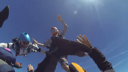 Palms are Sweaty, Knees Weak...Oh, That's Just From Watching These Skydivers