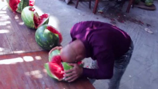 Smashing Watermelons, Now That's Using Your Noggin!