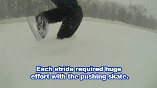 'Snow Skating' on an Ice Rink Looks Hard