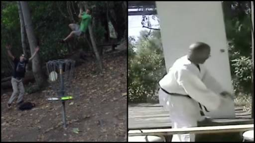 'Tarzan' Disc Golf & Karate Fail