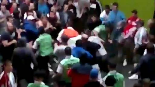 Euro 2012 Fans Violently Attack Stewards