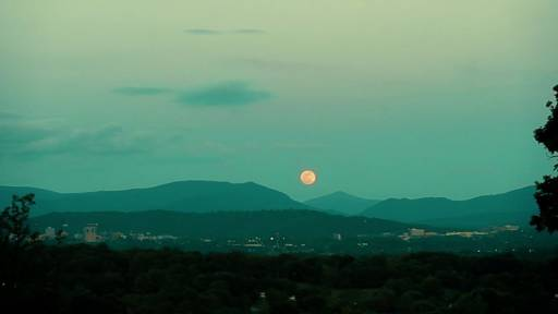 Supermoon Over Asheville 2012