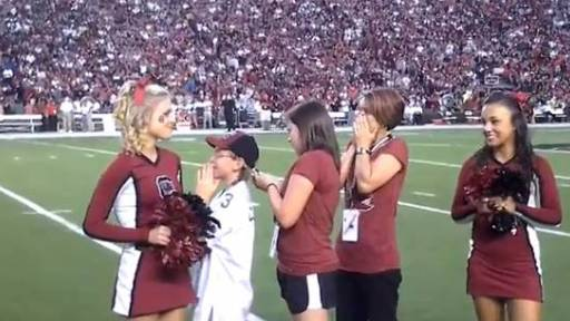 Original Video: Tearjerker of the Day- Emotional Military Homecoming at South Carolina's Football Game