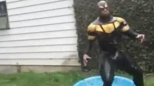 Superhero Phoenix Jones Gets Tasered During Ice Bucket Challenge