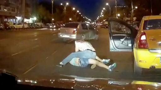 Taxi Driver Delivers Beat Down