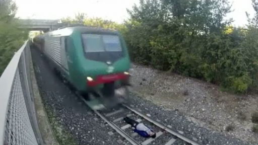 Teen Films Himself Laying on Tracks While Speeding Train Passes Over Him