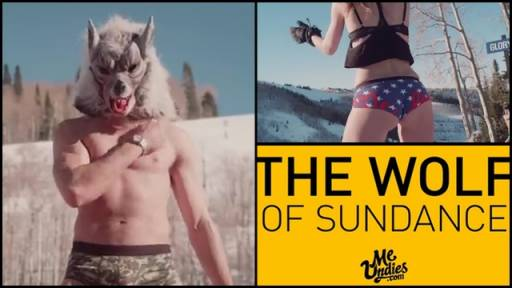 'Wolf of Sundance' Hits the Slopes to Promote Undies Line