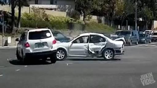 Speeding SUV Runs Red Light, Causing Three-Car Crash