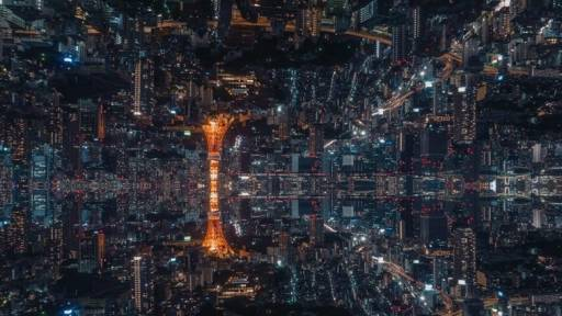 Kaleidoscope Time Lapse Footage of Tokyo