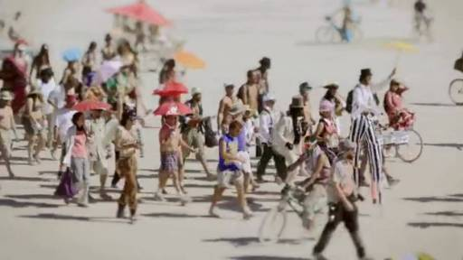 Tilt-Shift Time-Lapse: A Burning Man for Ants