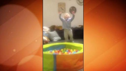 Baby Dives into Ball Pit!