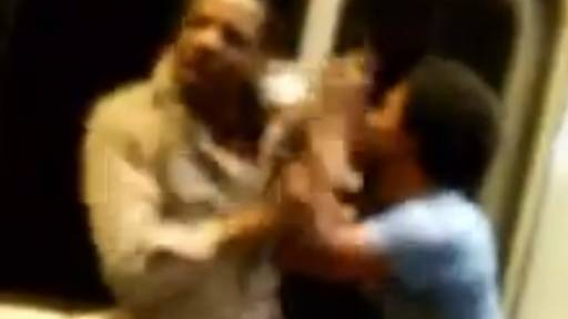 Brawlers Try to Throw Man Out of Moving Train During Fight