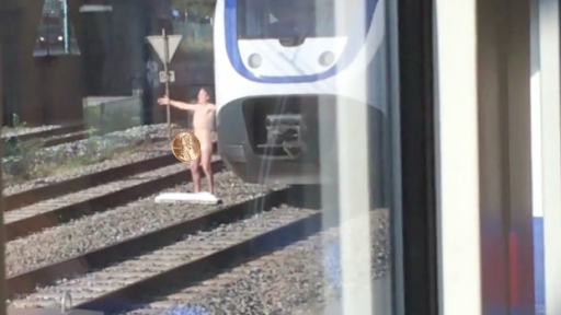 Pulling off the 'Naked Man' Brings Even Trains to a Halt