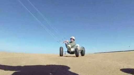 Kites and Tricycles Combine for Fun on Sand