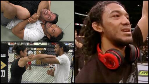 Former UFC Champion Benson Henderson Trains RTM Hosts