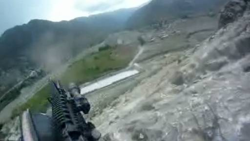 US Soldier Takes Fire from Taliban