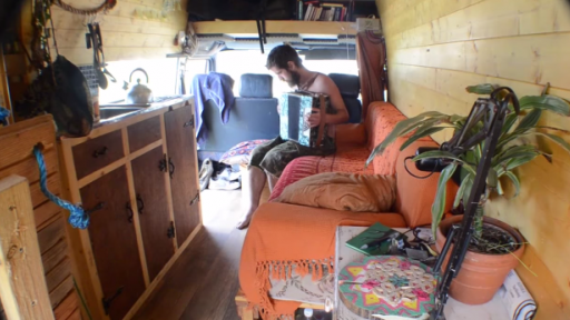 Guy Quits Job to Live and Travel in His Awesome Self-Built Van Home!
