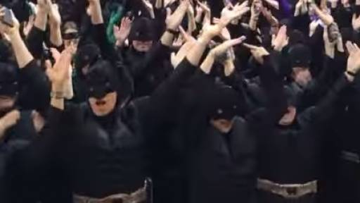 Holy YMCA, Batman! World Record Set in Super Hero Way