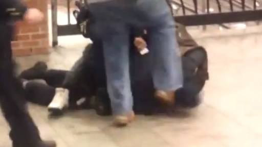 Oops: NYPD Officer Kicks Another Cop in the Head