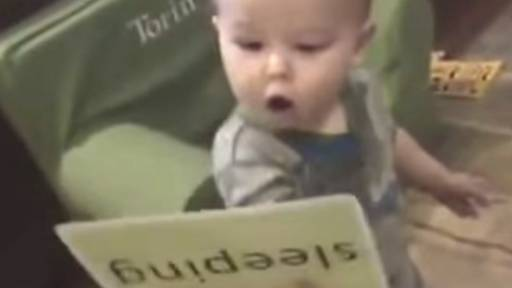 Word Up, Baby! Smart Boy Has Great Recognition Skills