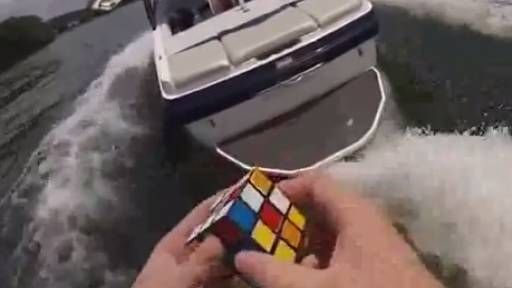 Odd Combination: Solving a Rubik's Cube Behind a Boat