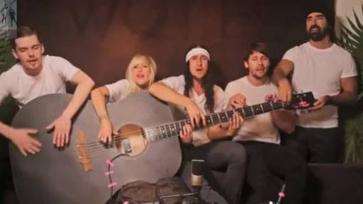 Walk Off The Earth Whips Out a Big Guitar for 'Red Hands' Cover