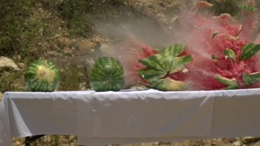 What Happens When You Fire a Bullet Through Watermelons