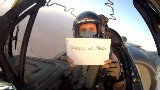 Original Video: Wedding Message From the Skies Over Afghanistan