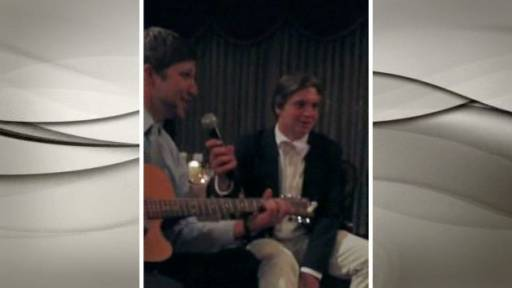 Brothers Sing Hilarious Song at Sister's Wedding