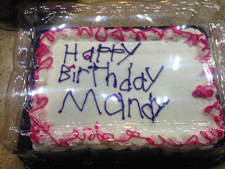 Birthday Cake Photo Viral : Happy Birthday Mandy: Birthday Cake Decoration Goes Viral ...
