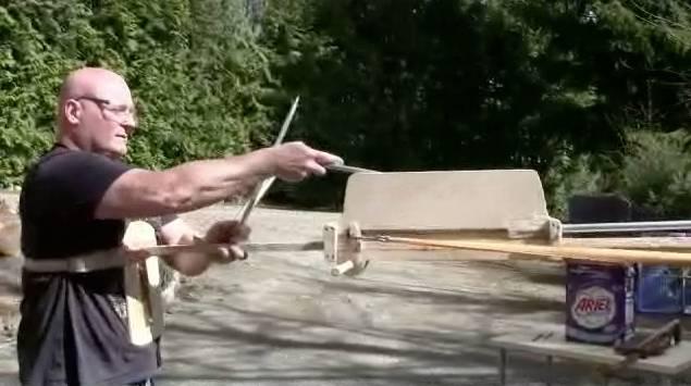 amazing semi-auto giant crossbow