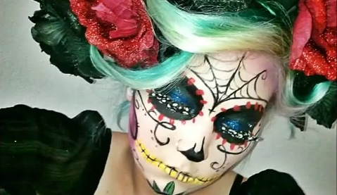Day of The Dead Style Makeup Day of The Dead-style