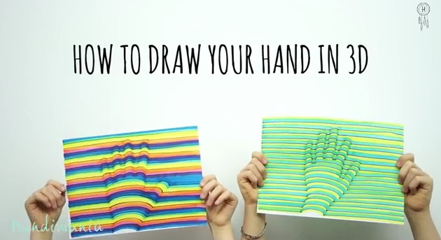 You won 39 t believe how easy it is to draw your hand in 3d for How to draw something cool on your hand