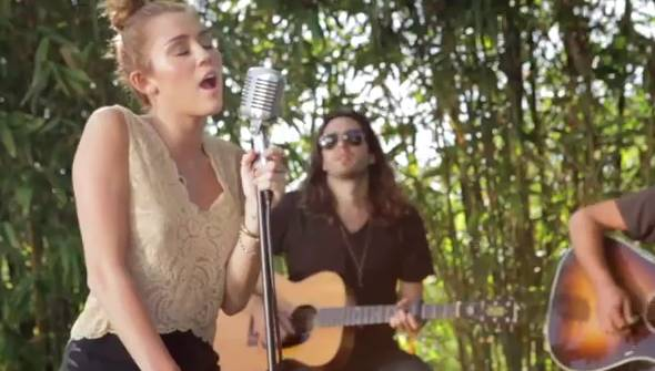 miley cyrus wows with stripped down version of 39 lilac wine 39 rtm