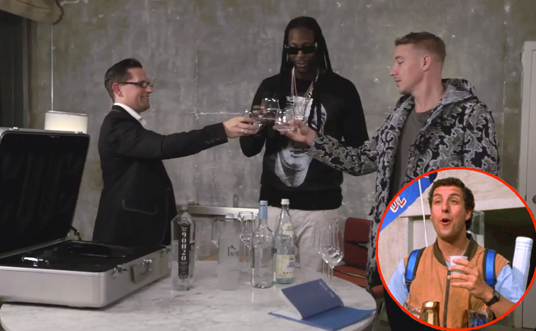 Diplo Drinking Expensive Water