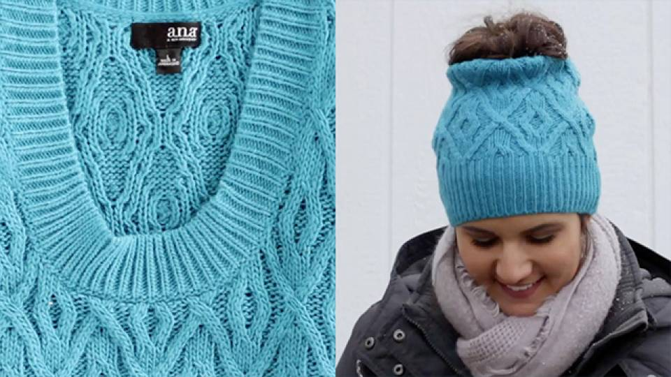 From Old Sweater To Comfy Headband  5cd064687ff2