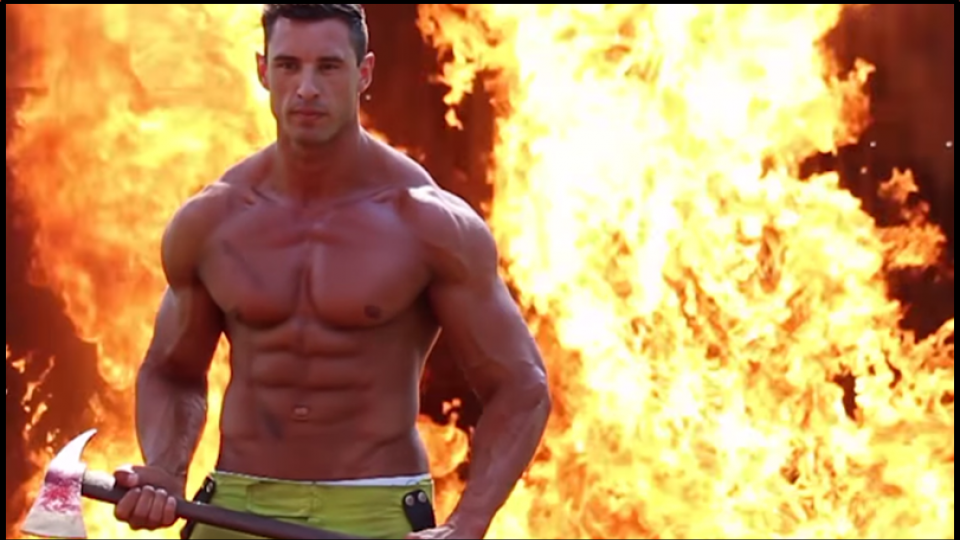 Firefighters strip off for topless charity calendar shoot