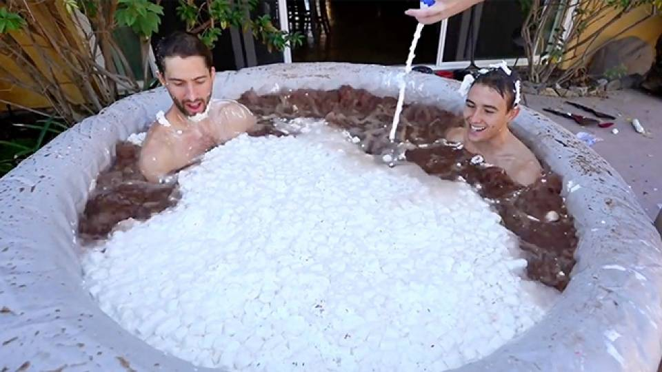 Two Dudes One 250 Gallon Hot Tub Full Of Hot Cocoa Rtm