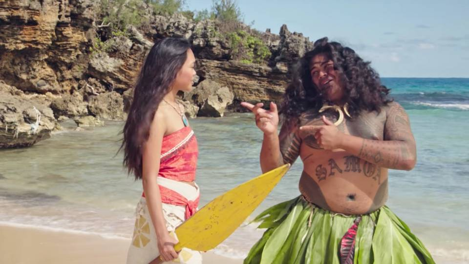 maui s you re welcome from moana movie in real life rtm