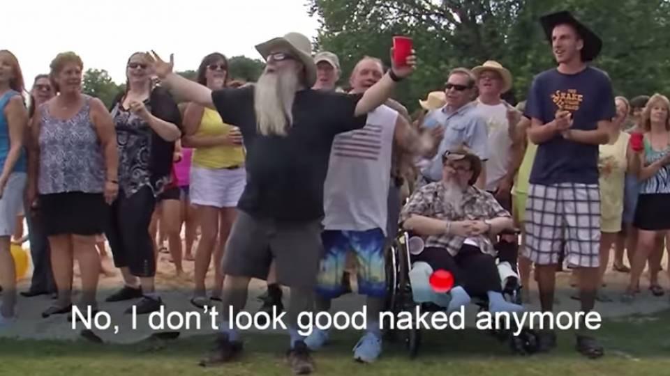 Prank naked girl