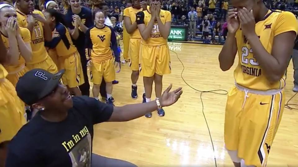 Basketball Player Gets Sweet Proposal After Dominating Game Rtm