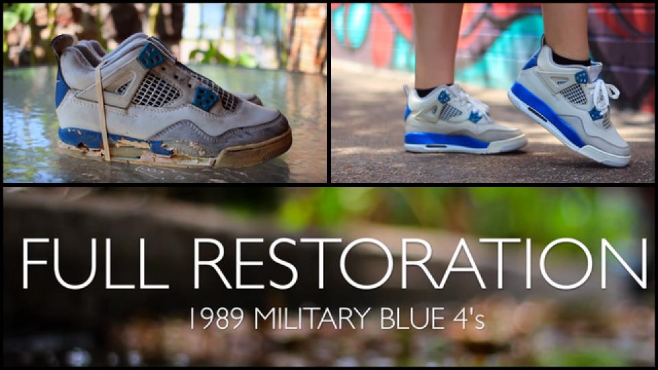 3e731956bce0 Original 1989 Air Jordan Military Blue 4s Get an Awesome Makeover ...