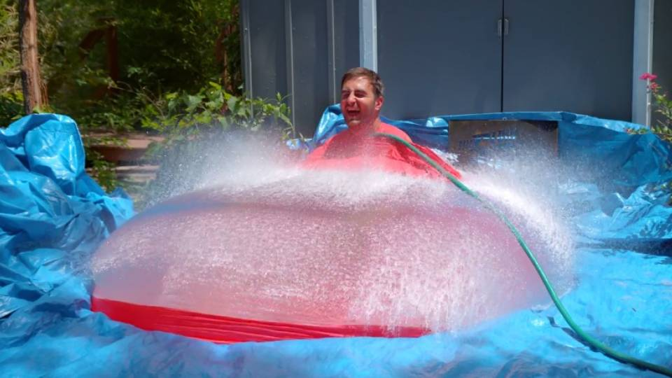 And Pop Goes The Giant Human Water Balloon In Glorious Slow Motion