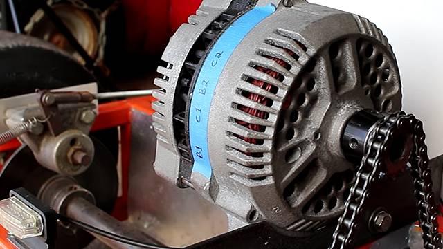 Car Alternator Repurposed As Go Kart Motor Rtm Rightthisminute