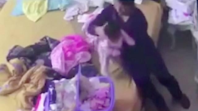 Violent Babysitter Caught Abusing Crying Infant | RTM