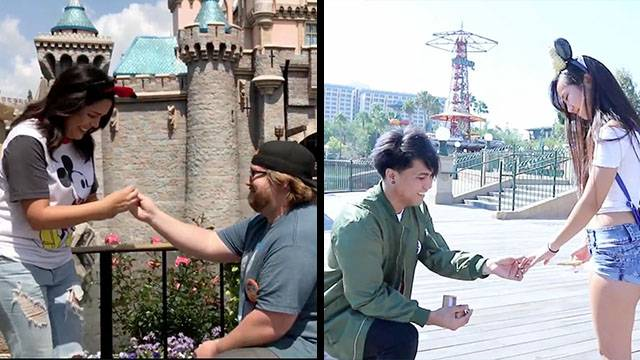 A Pair Of Proposals At The Magic Kingdom Rtm Rightthisminute