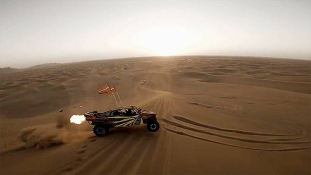 Drone Is There For Dubai Dune Buggy Fun | RTM - RightThisMinute