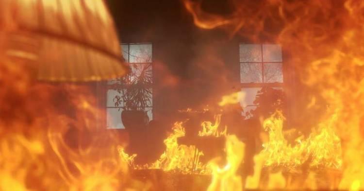 Image result for fire inside house