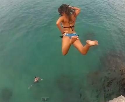 Hot girls jumping