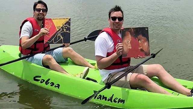 jimmy fallon is a goat in a boat with a special friend rtm